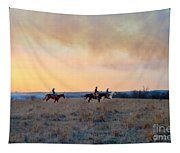 Three Riders In The Kansas Flint Hills Tapestry