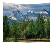 Three Sisters And The Railroad Tapestry