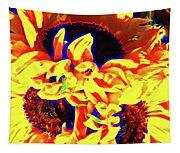 Three Sunflowers Tapestry