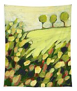 Three Trees On A Hill Tapestry by Jennifer Lommers