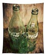 Three Vintage Coca Cola Bottles  Tapestry