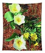 Three White Tulips Painting Tapestry