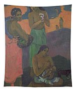 Three Women On The Seashore Tapestry