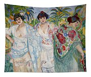Three Women With Shawls Tapestry