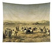 Threshing Wheat In Algeria Tapestry