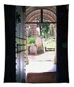 Through The Door Of St Mylor Tapestry