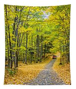 Through Yellow Woods 2 Tapestry