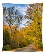 Through Yellow Woods 3 Tapestry