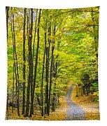 Through Yellow Woods Tapestry