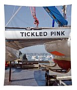 Tickled Pink In Mylor Cornwall Tapestry