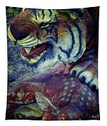 Tiger And Deer Tapestry