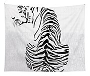 Tiger Animal Decorative Black And White Poster 4 - By  Diana Van Tapestry