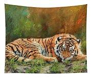 Tiger Repose Tapestry