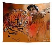 Tiger Woods Or Earn Your Stripes Tapestry