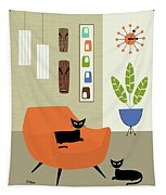 Tikis On The Wall Tapestry
