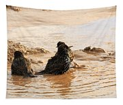 Time For A Mud Bath Tapestry