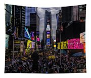 Times Square From The Steps Tapestry