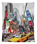Times Square Pop Art Tapestry