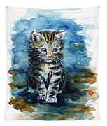 Timid Kitten Tapestry