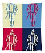 Tin Man Pop Art Poster Tapestry