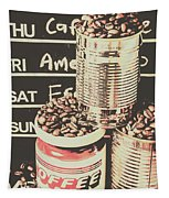 Tin Signs And Coffee Shops Tapestry
