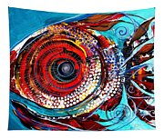 Tiny Blue Pill Tapestry