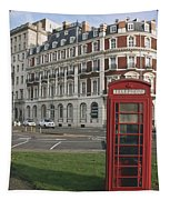 Titanic Hotel And Red Phone Box Tapestry