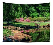 Taking A Break At The Azalea Pond Tapestry