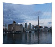 T O Harbour In Blue Tapestry