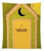 To The Beach - Decorative Outhouse And Sign Tapestry