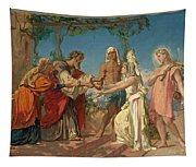 Tobias Brings His Bride Sarah To The House Of His Father Tobit Tapestry