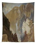 Toltec Gorge And Eva Cliff From The West, Colorado, 1892 Tapestry