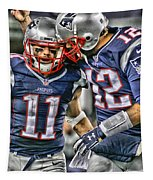 Tom Brady Art 1 Tapestry