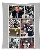 Tom Brady Football Goat Tapestry