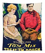Tom Mix In Treat'em Rough 1919 Tapestry