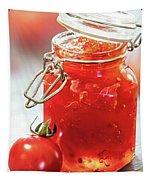 Tomato Jam In Glass Jar Tapestry