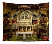 Tomb Of Saint Eulalia In The Crypt Of Barcelona Cathedral Tapestry