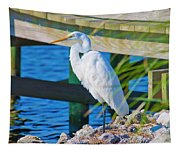 Topsail Egret Tapestry