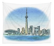 Toronto Canada City Skyline Tapestry