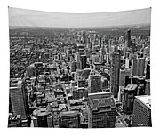 Toronto Ontario Scrapers In Black And White Tapestry