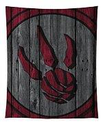 Toronto Raptors Wood Fence Tapestry