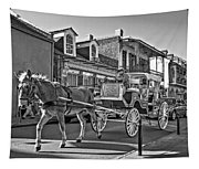 Touring The French Quarter Monochrome Tapestry