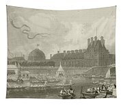 Tournay On The Seine During The July Fetes Tapestry
