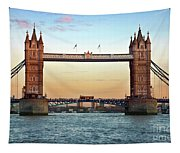 Tower Bridge- Sunset In London Tapestry