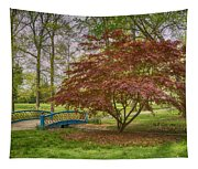 Tower Grove Arched Bridge And Maple Tree Dsc01828 Tapestry