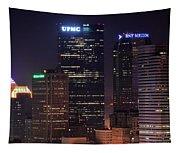 Towering Buildings Of Pittsburgh Tapestry