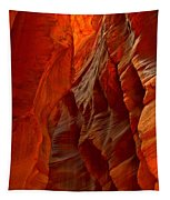 Towering Fiery Walls Tapestry