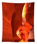 Towering Walls Of Antelope Canyon Tapestry