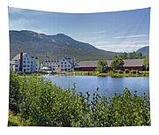 Town Square By The Pond At Waterville Valley Tapestry