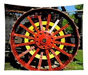 Tractor Big Wheel Tapestry